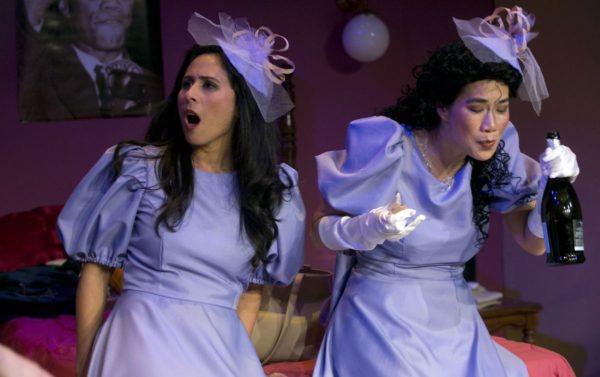 Production photo of Five Women Wearing the Same Dress