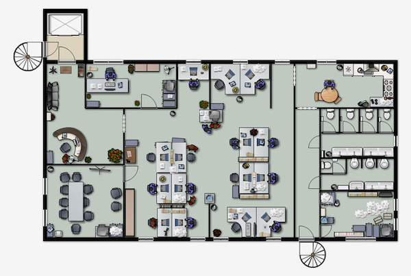 floorplan of office